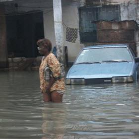 Cameroun : Premiers dégâts des pluies à Douala::Cameroon