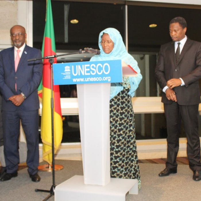 France- Cameroun: Mme YOUSSOUF HADIDJA ALIM FÊTE A L'UNESCO DE PARIS  L'ERECTION DU CENTRE MICRO-SCIENCE DE YAOUNDE AVEC L'UNESCO  EN CENTRE DE CATEGORIE II