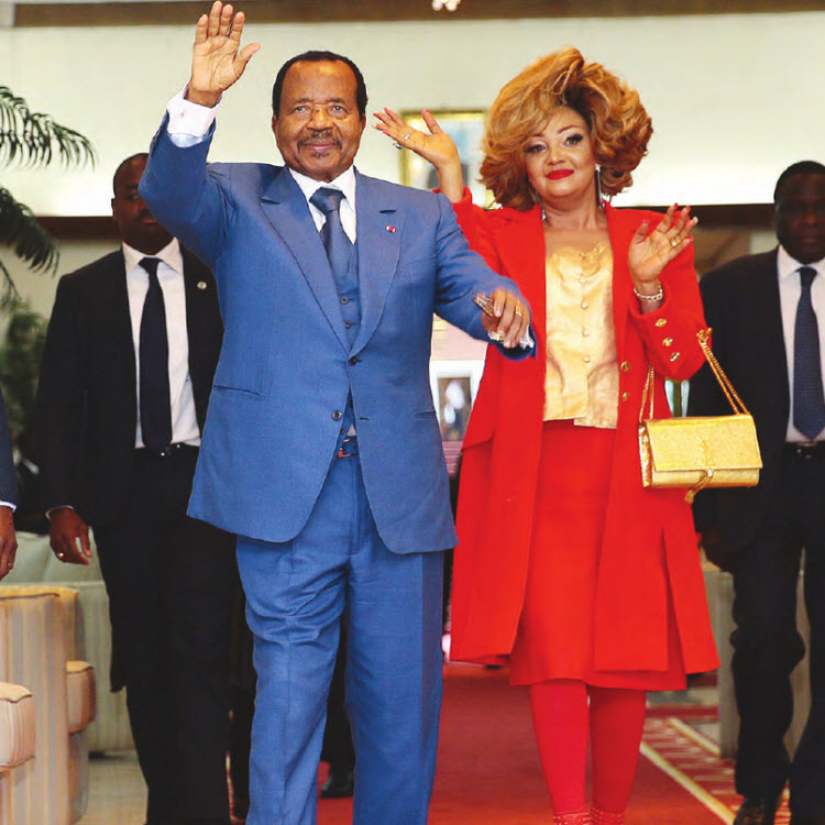 Paul et Chantal Biya en route pour Lyon à l'invitation de Emmanuel Macron
