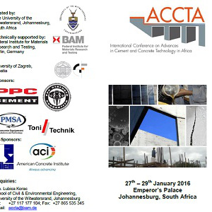 AFRIQUE DU SUD :: Advances in Cement and Concrete Technology in Africa (ACCTA) 2016: Submission deadline is 5th June 2015 :: SOUTH AFRICA