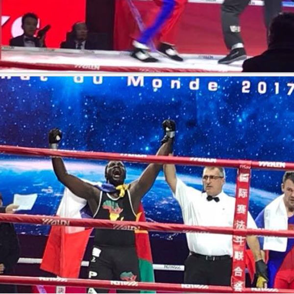 France: PHARELLE AKOUAN CHAMPION DE MONDE DE LA BOXE SAVATE