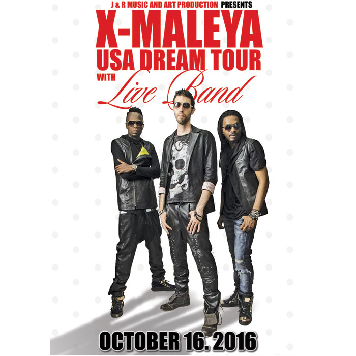 USA- Cameroon: X MALEYA USA TOUR, FILMORE SILVER SPRING,October 16, 2016 from 4 pm – 6 pm