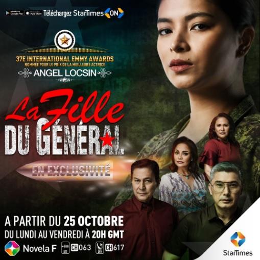 La télénovela « La Fille du général » est diffusée en exclusivité sur startimes