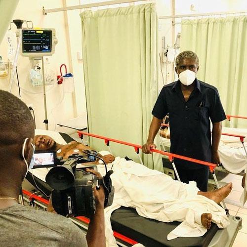 Explosion de Bata: Teodoro Obiang Mangue au chevet des victimes