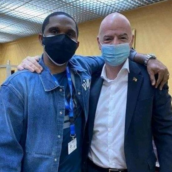 CHAN 2020: LE PRÉSIDENT DE LA FIFA EST AU CAMEROUN
