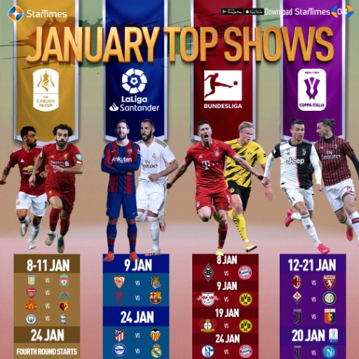 Ce mois de janvier, c'est 100% football sur StarTimes.