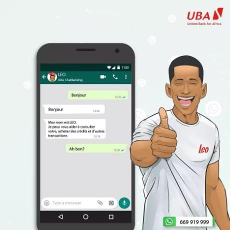 LEO, le banquier virtuel de UBA.