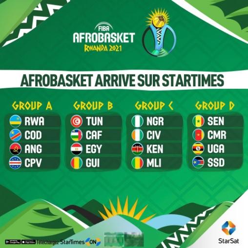 StarTimes diffusera le tournoi FIBA Afrobasket 2021