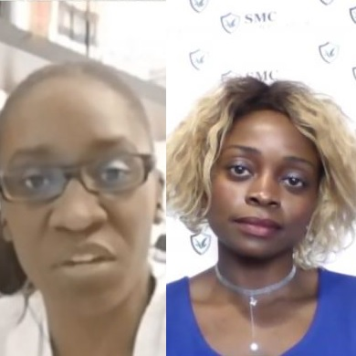 Vidéo-Elise KINGUE B. et Stella MANGA C.  Illuminent le plateau du Point Diaf-TV