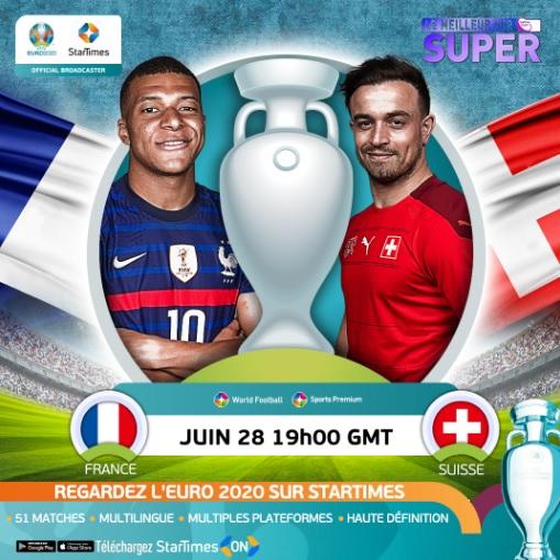 Euro 2020: quels matchs regarder ce week-end sur SUR Startimes ?