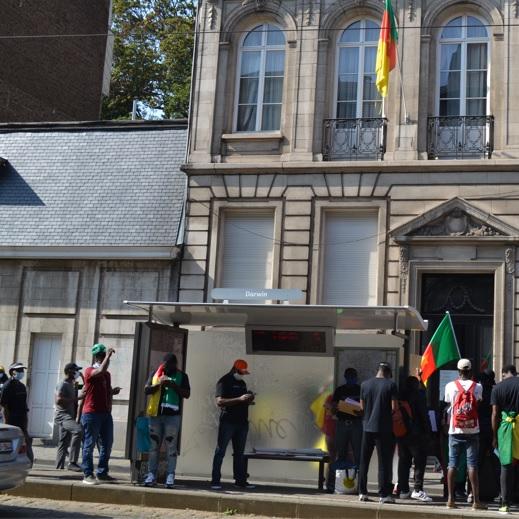 Bruxelles: Quelques Camerounais rendent hommage à la petite Caro Louise Ndialle