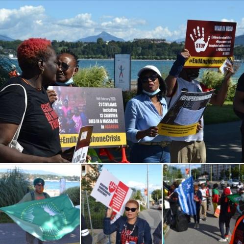 Bruyante manifestation de la diaspora résistante Camerounaise à Genève