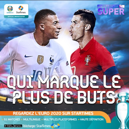 Euro 2020 : Kroos, Ronaldo et Mbappé dans le groupe de la mort sur Startimes
