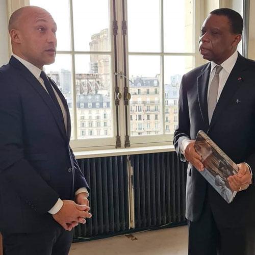 Rencontre entre André Magnus Ekoumou Arnaud Ngatcha, Adjoint à la Maire de Paris (images exclusives)