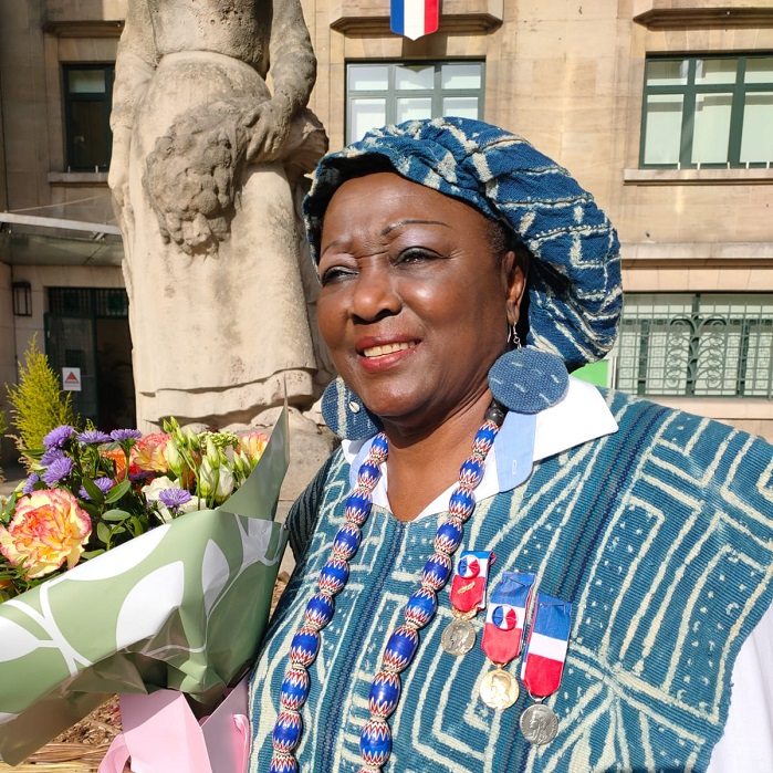 REGINE MBIATCHA EP NGANGWA: MEDAILLEE VERMEILLE ARGENT ET OR: BEL EXEMPLE D'INTEGRATION EN FRANCE