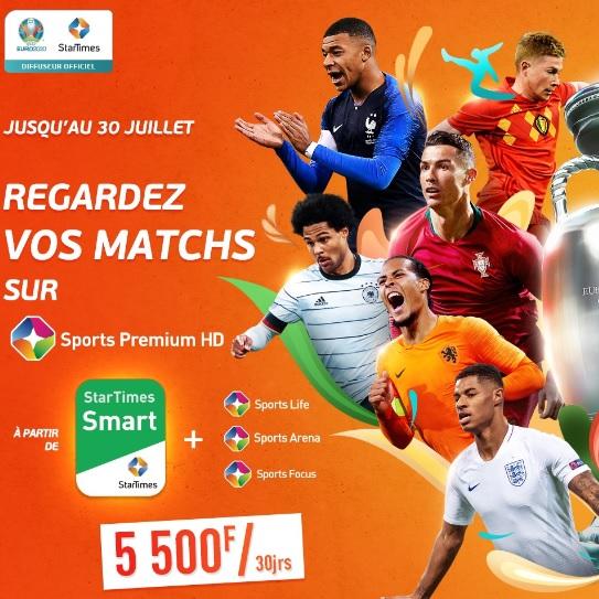 L'Euro 2020 PROMET UN GRAND FOOTBALL SUR STARTIMES