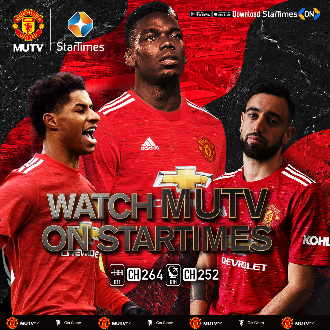 Manchester united announces pathnership with Startimes to offer MUTV in Africa