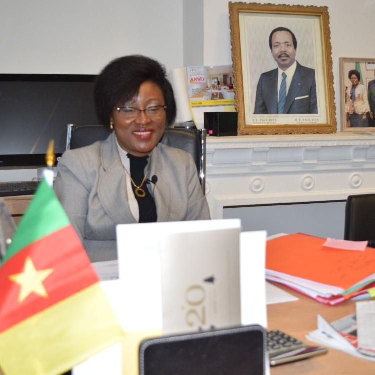 Mme Christine Scholastique Bissou-Ngue appelle à la retenue à l'endroit de Lady Ponce