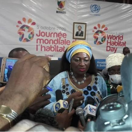 Célestine Ketcha Courtés célèbre l'habitat à Douala