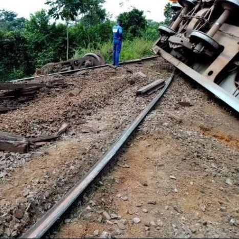 Last minute : Déraillement d'un train marchandises à Eséka