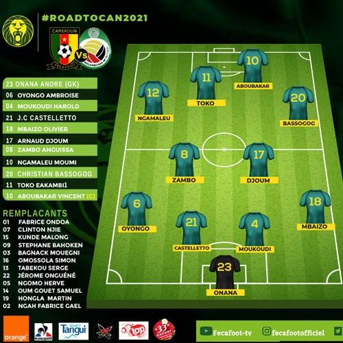 Cameroun 1-0 Mozambique : Vincent Aboucar buteur (mi-temps)