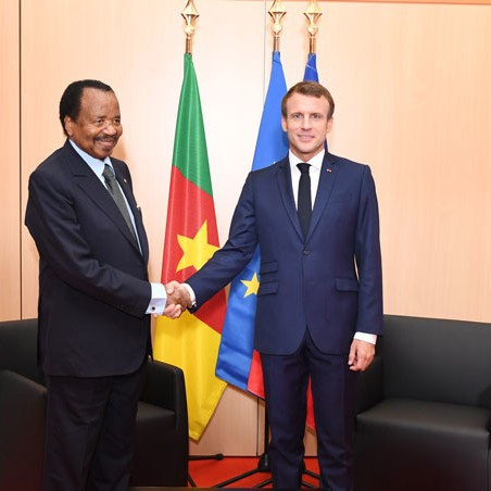 L'onction de Macron à Paul Biya