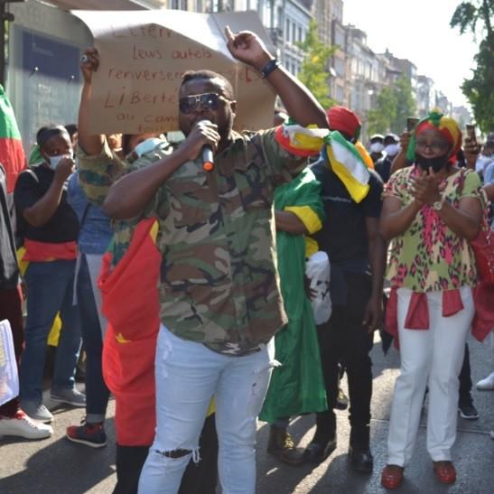 Bruyante manifestation des Camerounais à Bruxelles contre le régime de Paul Biya