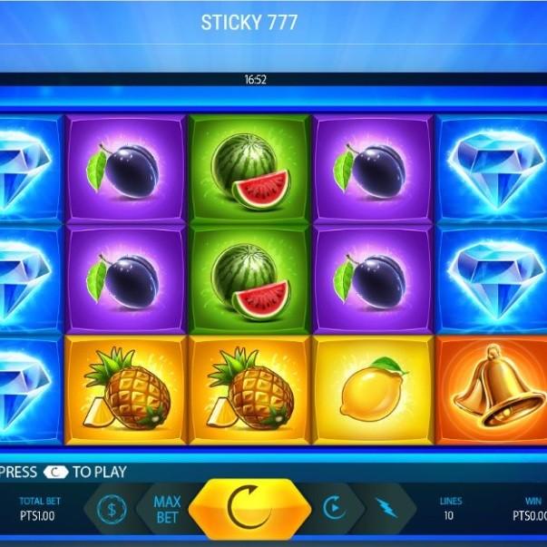 Sticky 777: une machine à sous vidéo unique pour les joueurs de casino sur Supergooal