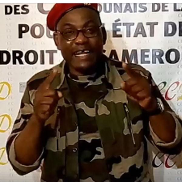 Manifestation du 3 Juillet à Paris: Le général  Robert Wanto explique la présence des « Ambazoniens