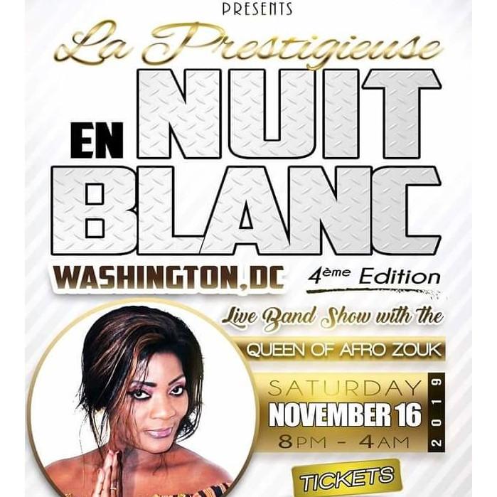 WASHINGTON DC: LA NUIT EN BLANC DU 16 NOVEMBRE 2019 SE PRÉPARE AVEC MONIQUE SEKA EN SHOW-LIVE