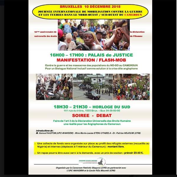 Journée de mobilisation contre la guerre et les tueries dans le nord-ouest/Sud-ouest du Cameroun