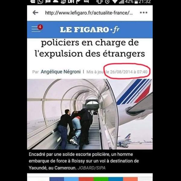 France: A PROPOS DES POSTS SUR LE CAMEROUNAIS MANIFESTANT, PRETENDUMENT RAPATRIÉ...
