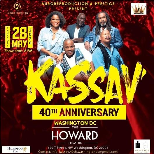 40ème anniversaire: Le groupe KASSAV annoncé le 28 mai prochain à Washington DC