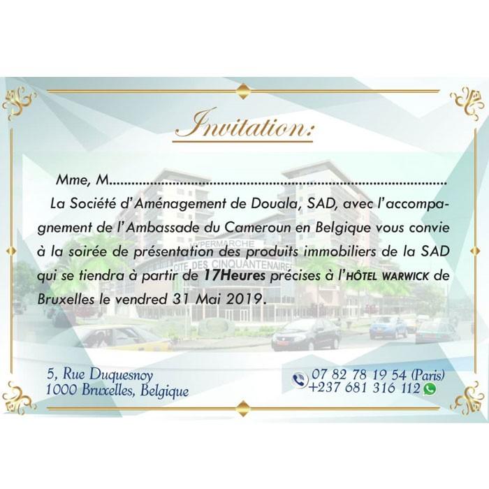 La SAD à la conquête de la diaspora camerounaise de Belgique ce vendredi 31 Mai 2019 à Bruxelles.