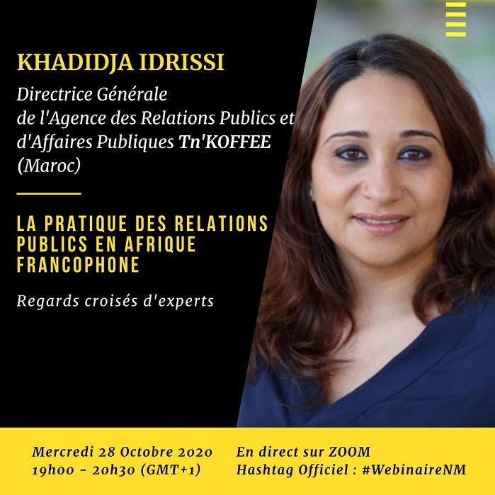 """""""LA PRATIQUE DES RELATIONS PUBLICS EN AFRIQUE FRANCOPHONE: REGARDS CROISES D'EXPERTS"""""""